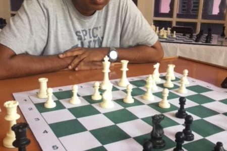 Loris Nathoo, who created the five-year (2019-2024) draft development plan for the Guyana Chess Federation.