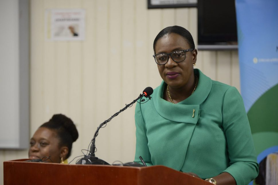 Minister of Education, Hon. Dr. Nicolette Henry. [Department of Public Information photo)