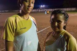 Tabatinga scorers from left to right Malaika DeCamp and Thalisa Bernard