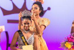 Devya crowned by Miss Guyana Talented Teen 2016, Aliya Wong.