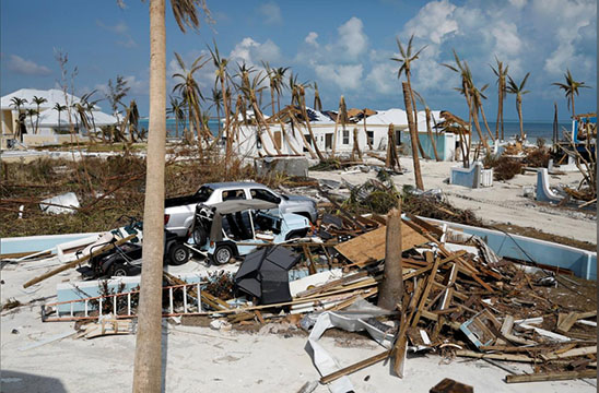 A view of the devastated houses after Hurricane Dorian hit the Abaco Islands in Treasure Cay, Bahamas. (REUTERS/Marco Bello photo)