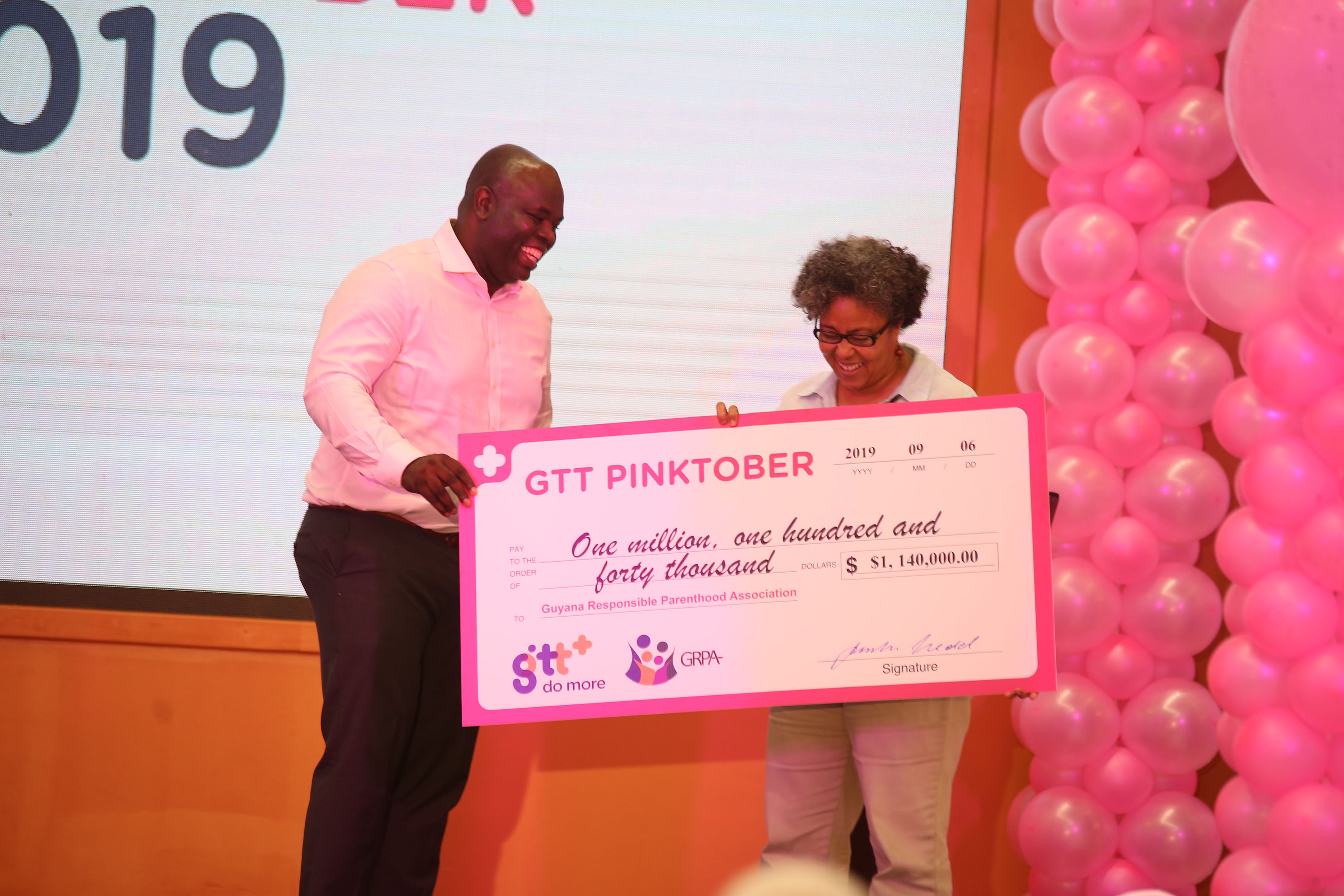 GTT launches annual 'Pinktober' campaign - Stabroek News