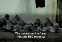 A still shot from the BBC programme