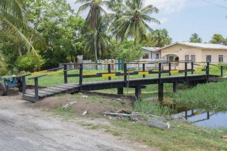 The bridge linking the two communities. (DPI photo)
