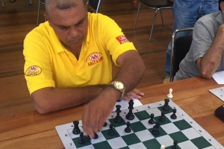Berbician chess player Kriskal Persaud, who won last Sunday's Berbice Open Chess Tournament, which was held at the University of Guyana's Tain Campus.