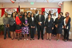 The delegations from Guyana and Trinidad and Tobago pose for a group photo