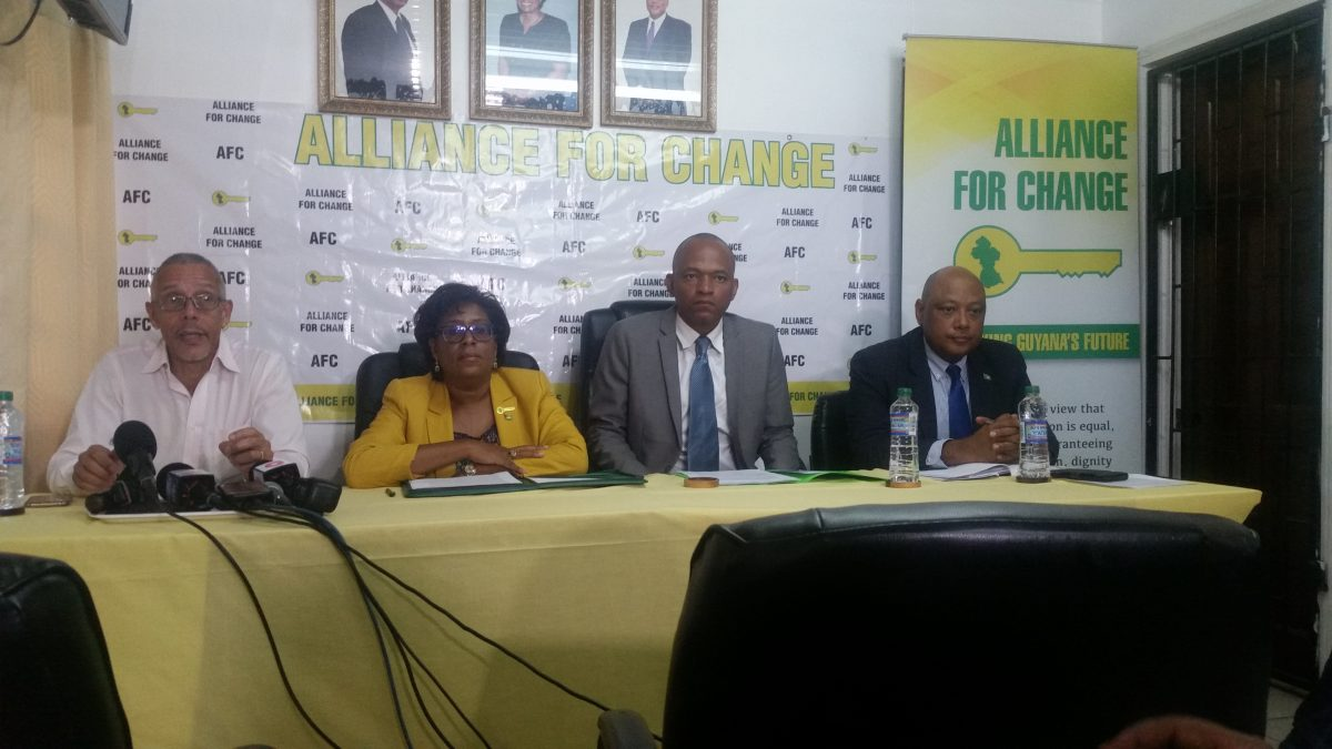 From left are Dominic Gaskin, Cathy Hughes, Sherod Duncan and Raphael Trotman