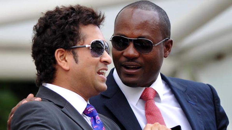Sachin Tendulkar [left) and Brian Lara