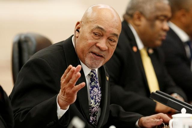 President Desi Bouterse on his present trip to China.