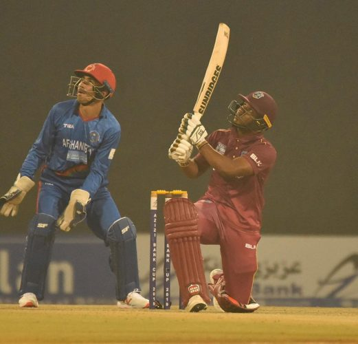 Evin Lewis on the attack. (CWI photo)