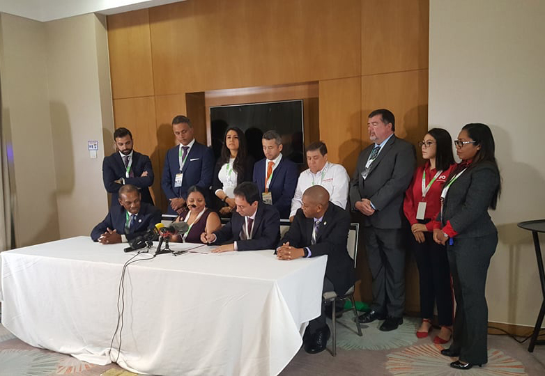 The deal being signed between UG and Halliburton