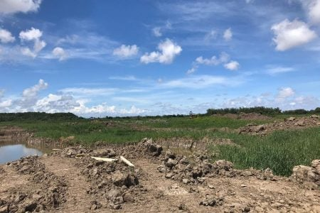 Land that will be used for Cell Two at the landfill