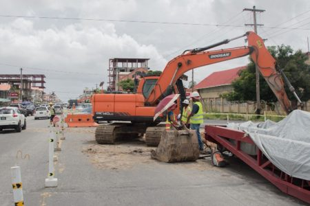 Work ongoing on Sheriff St. (Department of Public Information photo)