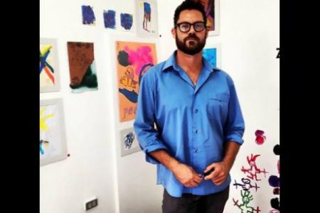 Jeffrey Menzies, life drawing and figure analysis lecturer at the University of Technology (UTech).