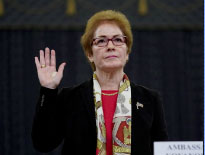 Marie Yovanovitch, former U.S. ambassador to Ukraine, is sworn in to testify before a House Intelligence Committee hearing as part of the impeachment inquiry into U.S. President Donald Trump on Capitol Hill in Washington, U.S., November 15, 2019. REUTERS/Jonathan Ernst