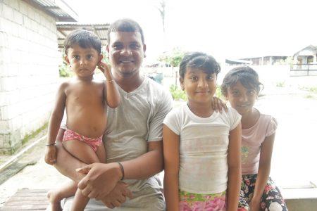 Ganesh Phillips and his children, Shem, Yelena and Ellenita