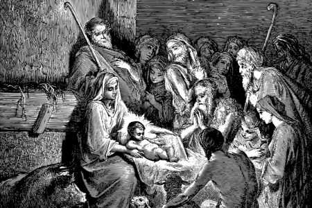 The baby, JESUS, was born in a manger, a facility, a pen wheh livestock would feed and dwell (Image: The Nativity by Gustave Dore)