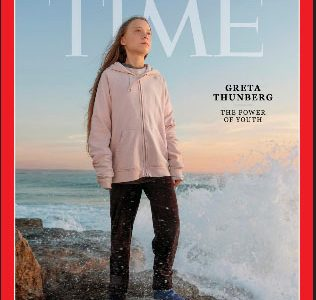 Time cover features Swedish teen activist Greta Thunberg named the magazine's Person of the Year for 2019. (TIME via REUTERS)