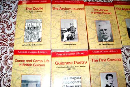 Some of the publications in the Guyana Classics series (Stabroek News file photo)