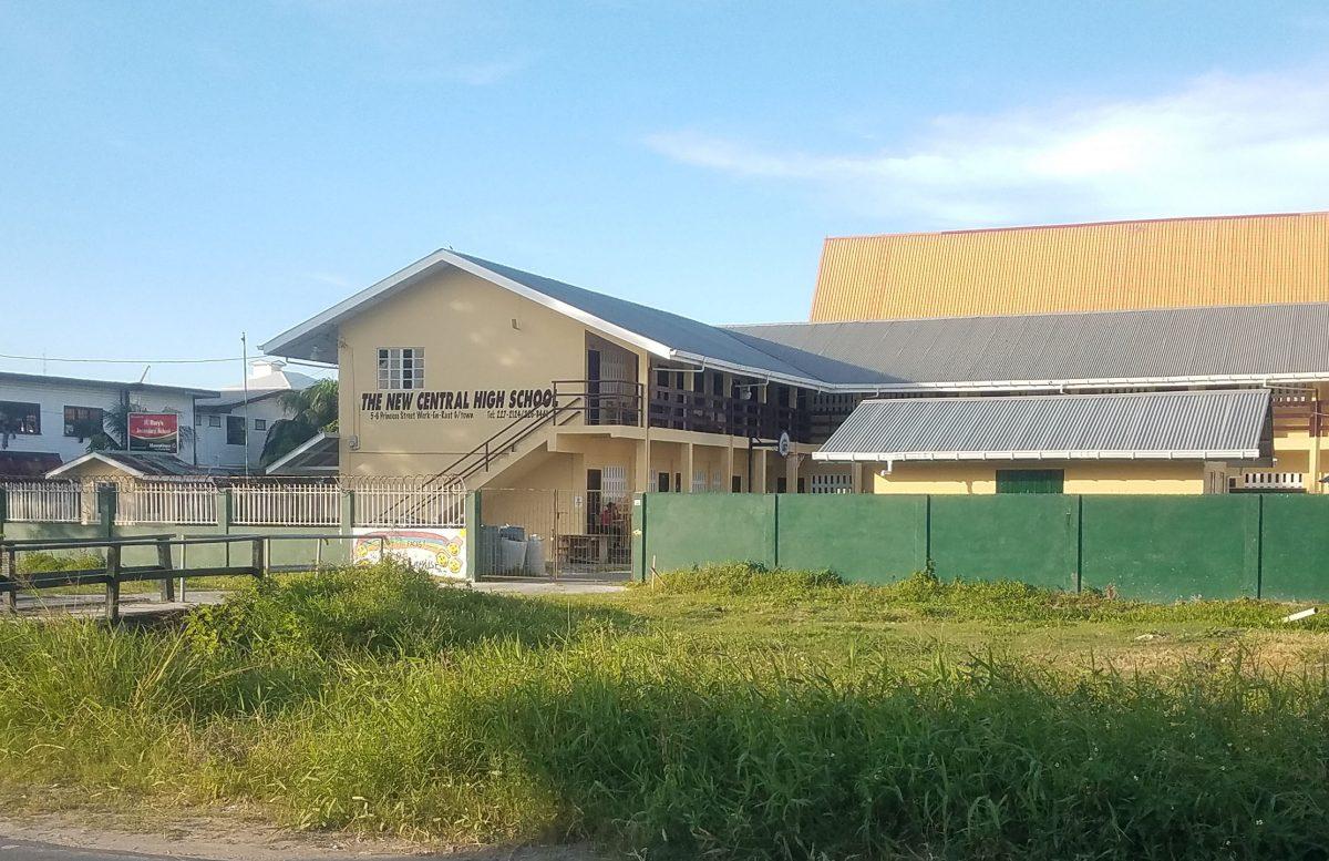The New Central High School located at Princes Street, Werk-en-Rust, Georgetown