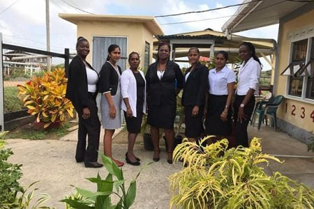 Albion Front Nursery school staff attended school while dressed in black and white ensembles