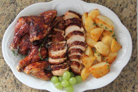5-Spice Hoisin-glazed Roast Chicken (Photo by Cynthia Nelson)