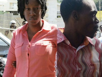 Malissa Carla Griffith(left) and Fidel Nkomo Alleyne (right) pleaded guilty to murder yesterday. (FPs)