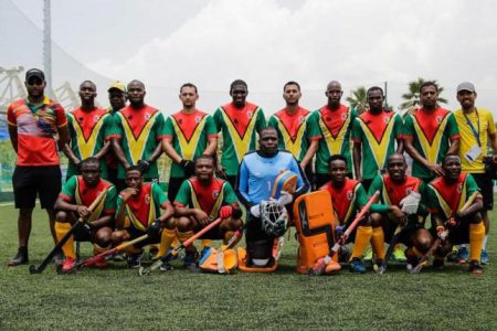 Flashback! The national men's team that placed fourth at the CAC Games in Colombia in 2018.