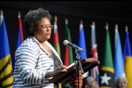 Mia Mottley, prime minister of Barbados and chairman of CARICOM.