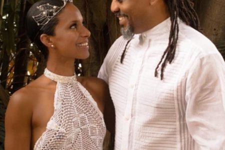 Machel and Renee at their wedding.