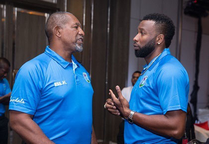 West Indies head coach Phil Simmons (left) and captain Kieron Pollard (right), at a reception to officially open the ODI series against Sri Lanka, have expressed confidence in the squad.
