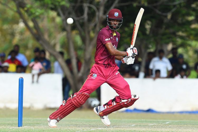 Roston Chase hit 16 fours and a six in his knock of 136 off 113 balls. (Sri Lanka Cricket photo)