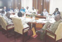 The GECOM/PPP meeting yesterday (GECOM photo)