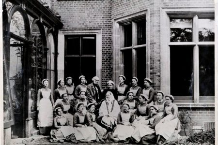 A handout photograph shows Florence Nightingale and her Nightingale School trainees in an unknown location. (Florence Nightingale Museum/Handout via REUTERS)
