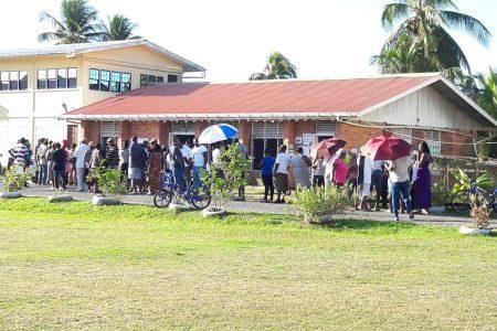 Voters at NA Multilateral (Bebi Oosman photo)