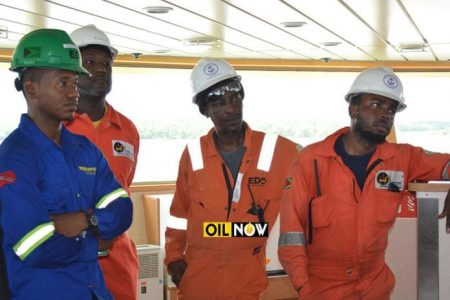 Guyanese oil workers