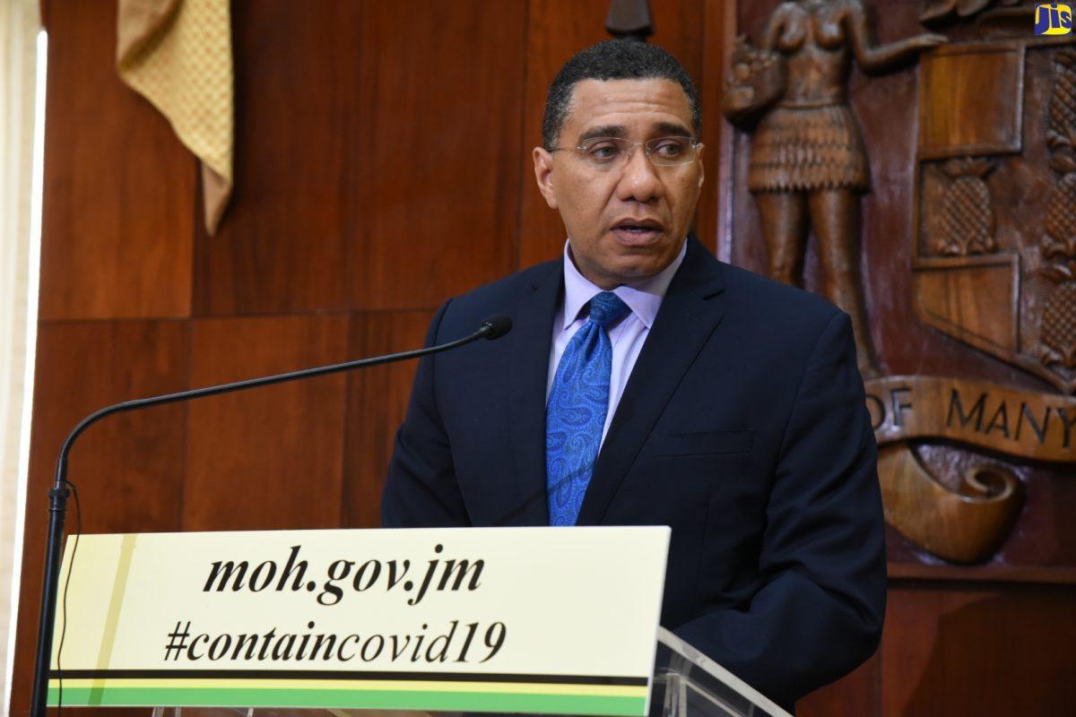 Jamaican PM Andrew Holness