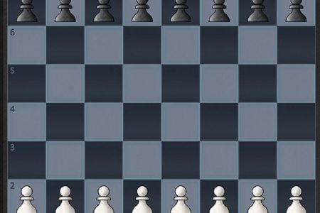 The start position of a chess game