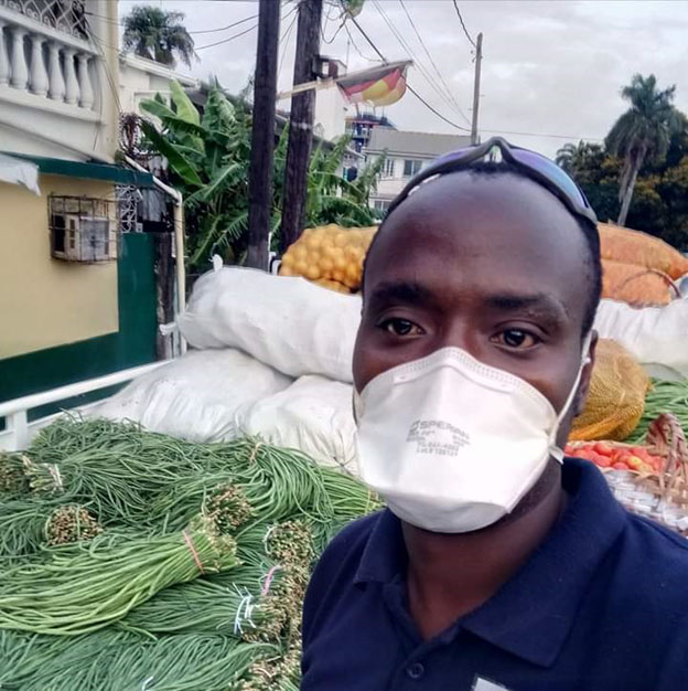 """Ready for the road: """"I cultivate"""" boss Cordel Jones all kitted out for one of his delivery 'runs'"""