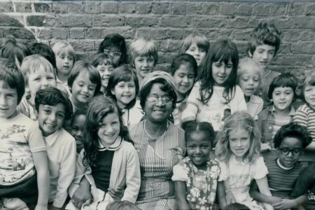 Beryl Gilroy, who emigrated to London from Guyana as part of the Windrush generation, was head of the primary between 1969 and 1982 (Photo from the Estate of Beryl Gilroy via The Evening Standard)