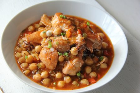 Stewed Chicken with Channa (Chickpeas) (Photo by Cynthia Nelson)