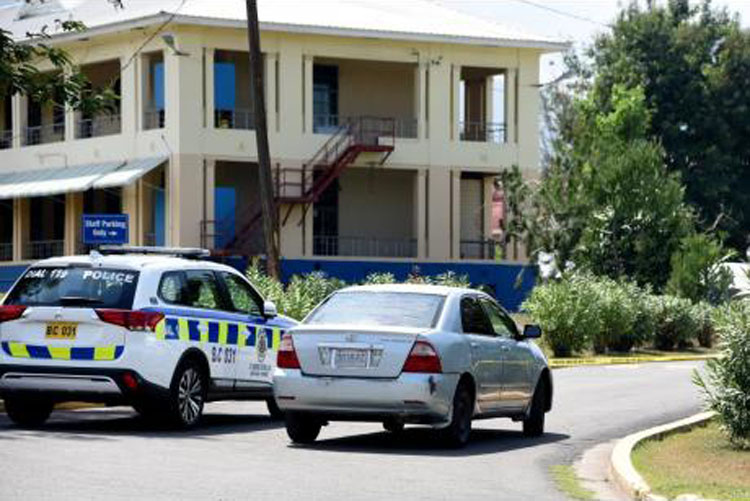 A section of the National Chest Hospital was cordoned off on Wednesday as the police investigate the controversial circumstances under which Carsha Johnson-Sinclair, who was a patient at the facility, died.