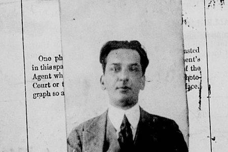 The 1921 U.S. Passport Application of Mohaiyuddin Khan,  Courtesy of Gaiutra Bahadur