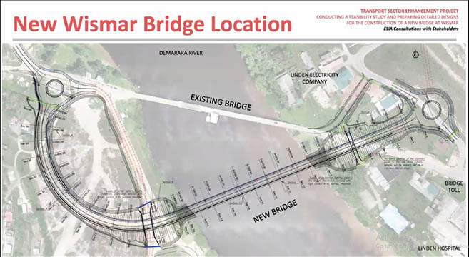 A map of the new Wismar Bridge
