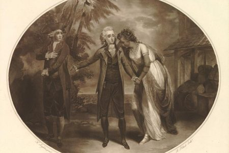 A 1788 print depicting a scene from the play Inkle and Yarico (Photo from British Museum website)
