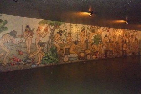 A mural in Venezuela depicting the tale of Amalivaca (Wikimedia photo)