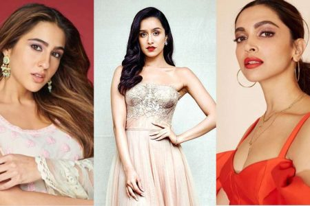 From right are: Deepika Padukone, Shraddha Kapoor and Sara Ali Khan