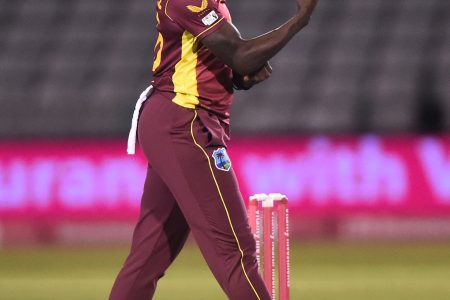 Fast bowler Shamilia Connell celebrates one of her three wickets during yesterday's fifth T20 International.