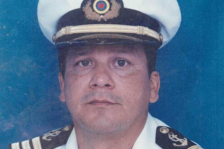 NAVAL OFFICER: Before he became a merchant ship captain, Herrera had a career in the Colombian Navy. REUTERS/Courtesy of Herrera family
