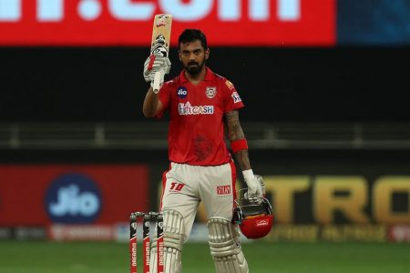 KL Rahul scored an unbeaten 132 off 69 balls, with the help of 7 sixes and 14 fours.